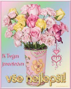 přání k svátku 027 animace Floral Wreath, Wreaths, Poster, Decor, Art, Art Background, Floral Crown, Decoration, Door Wreaths