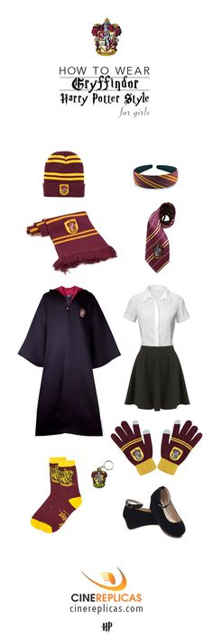 Gryffindor uniform for Girls #HarryPotter  #Gryffindor www.cinereplicas.com