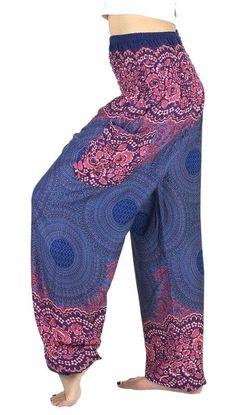 Indigo Mandala Rose Pants – Asha Pants