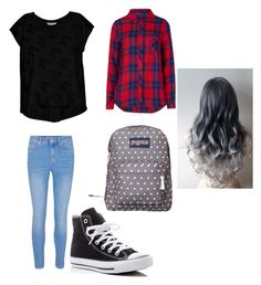 """school day #45"" by madison-kohut on Polyvore featuring Bobeau, Rails, Converse and JanSport"