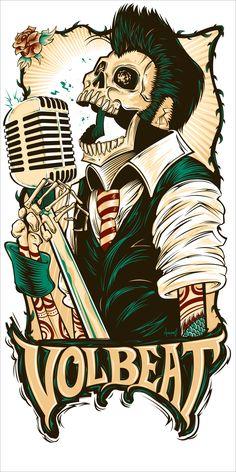 T-Shirt / poster design for Danish rock band Volbeat.