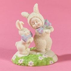 Dept 56 - Snowbunnies - Hopping Down The Bunny Trail