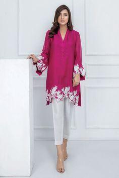 A vibrant pink, cotton net shirt