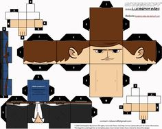 Last week, I featured 15 Cubeecraft paper toy models that everyone should make. Unexpectedly, that article turned out to be a hit! Who knew geeks love papercraft? Today, I'll feature 15 more Cubeecraft toy models, with a Star Wars twist. Lego Emmet, Legos, Paper Toys, Paper Crafts, Mr Printables, Figuras Star Wars, Simpsons, Nerd Crafts, Star Wars Birthday