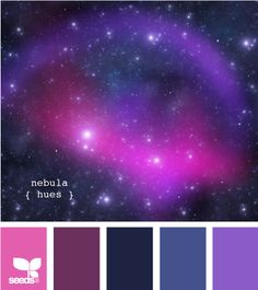 nebula hues - this color combo just makes me happy, the brightness of the light pink and purple held down by the darker purples/blues.  Somehow simultaneously calming and energizing.