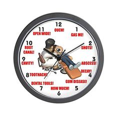 CafePress  Dentist  Unique Decorative 10 Wall Clock *** This is an Amazon Affiliate link. Check this awesome product by going to the link at the image.