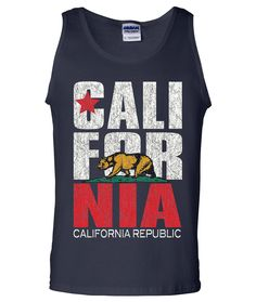 California Republic Vintage Retro Tank Top