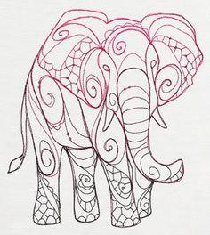 doodle urbanthread The Delicate Ones - Elephant_image