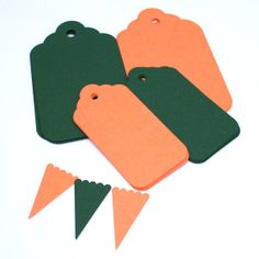 Gift Tags and Paper Bunting Set - Limited Edition Colours - Coral and Green by PaperCottonLove, $6.50 Paper Bunting, Gift Tags, Coral, Colours, Unique Jewelry, Handmade Gifts, Green, Shop, Cotton