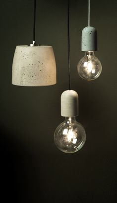 Urbi et Orbi's lamps are handmade in Athens from concrete.