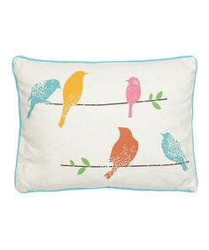 Look at this Birds Pillow on #zulily today!
