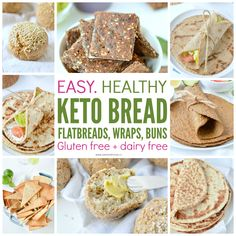 Low carb bread – keto bread recipes made with almond flour, coconut flour , psyl… Almond Flour Tortilla Recipe, Coconut Flour Tortillas, Recipes With Flour Tortillas, Coconut Flour Bread, Flour Recipes, Bread Recipes, Almond Bread, Keto Recipes, Low Carb Bread