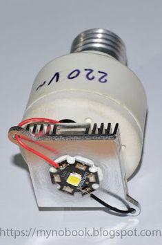 Моя записная книжка: Как сделать дешевые, но очень мощные светодиодные лампы