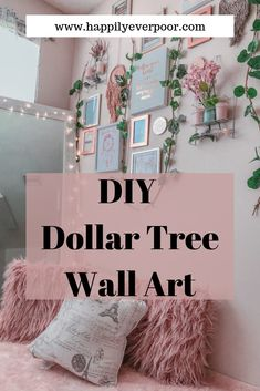 DIY Dollar Tree Wall Art for that boring and empty wall space in your home. Check out my wall for some inspiration and to help save you some money on your next DIY home project tree diy room decor Dollar-Tree Wall Art (Inspirational Ideas) Tree Wall Art, Diy Wall Art, Wall Art Decor, Diy Wall Decor For Bedroom, Easy Wall Decor, Diy Wall Decorations, Wall Art Bedroom, Teen Wall Decor, Diy Room Decor For Girls