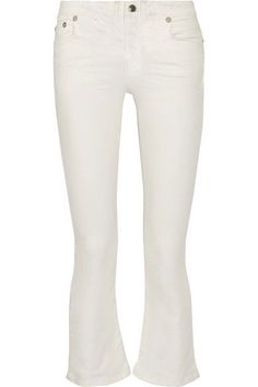 R13 Cropped high-rise flared jeans. #r13 #cloth #jeans
