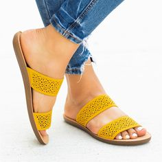 Most Comfortable Sandals, Casual T Shirt Dress, Summer Slide, Soda Shoes, Women's Shoes Sandals, Heels, Yellow Shoes, Ankle Jeans, Leather Slip Ons