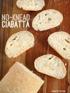 No-Knead Ciabatta - BudgetBytes.com
