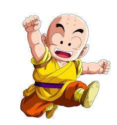 Krilin: Discípulo del Maestro Roshi y el mejor amigo de Goku.