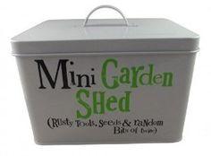 Bright Side Garden Storage Tin - Mini Garden Shed: Amazon.co.uk: Kitchen & Home