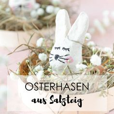 Easter crafts with children: making Easter bunnies out of salt dough - making Easter decorations - making Easter basket with rabbits cake wedding cake kindergeburtstag ohne backen rezepte schneller cake cake Easter Bunny, Easter Eggs, Easter Baskets To Make, Mom Day, Salt Dough, Easter Crafts, Pin Collection, Gift Baskets, Fathers Day