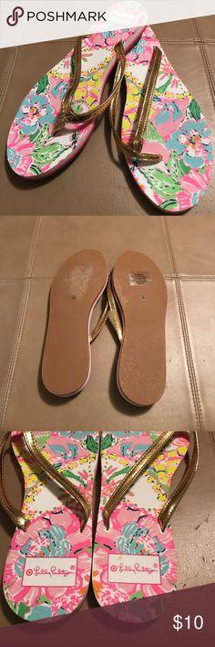Lily Pulitzer for target flip-flops Lily Pulitzer for target flip-flops only worn once Lilly Pulitzer for Target Shoes Sandals