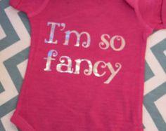 Baby Girl Onesie-I'm so fancy - Edit Listing - Etsy