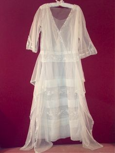 Edwardian Tulle Dress.  Hand stitched.  Lovely for a bride...or anyone with romantic whimsy.
