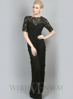 Black lace dress with sleeves