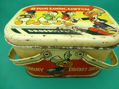 Vintage Jiminy Cricket lunch box STOP-LOOK-LISTEN