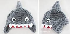 touca croche tubarão