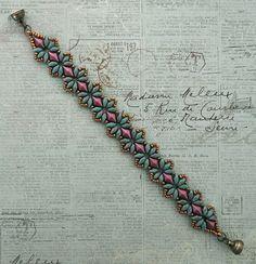 Linda's Crafty Inspirations: Bracelet of the Day: Bisaneta's Bracelet - Turquoise & Burgundy