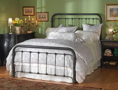 Wesley Allen Braden queen bed in custom finish Aged Bronze or Textured Old World.