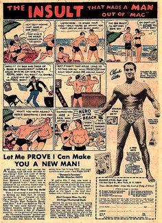 VINTAGE COMIC BOOK MUSCLE MAN AD 9 by Christian Montone, via Flickr