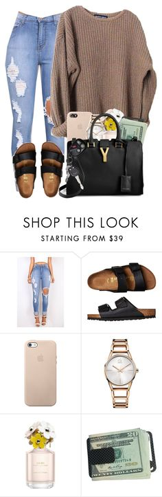 """#Fall"" by imwhit ❤ liked on Polyvore featuring Birkenstock, Calvin Klein, Marc Jacobs and Yves Saint Laurent"