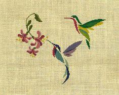 Bird/Hummingbird/animal Counted Cross Stitch by crossstitchgarden