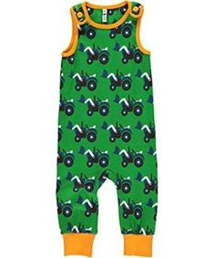 Maxomorra Baby Playsuit, Tractors - £16.99 - A great range of Maxomorra Baby Playsuit Tractors - FREE Delivery over £25!