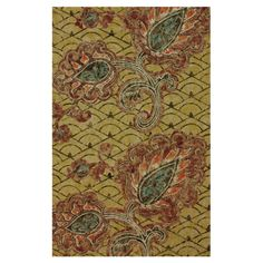 Woven jute rug with a botanical trellis motif.  Product: RugConstruction Material: JuteColor: Mu...