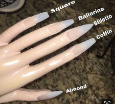 What manicure for what kind of nails? What manicure for what kind of nails? Aycrlic Nails, Swag Nails, Nail Nail, Stiletto Nails, Grunge Nails, Matte Nails, Nail Polish, Best Acrylic Nails, Acrylic Nail Designs