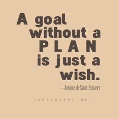 set your goals with a plan!