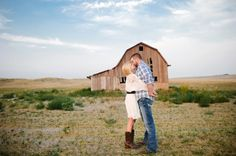 Wyoming Rustic Engagement Picture