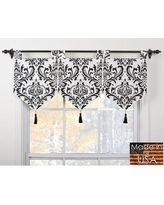 Shop for Arbor Ivory/Black Banner Valances (Set of Get free delivery at Overstock - Your Online Home Decor Outlet Store! Get in rewards with Club O! Kitchen Window Coverings, Kitchen Window Treatments, Kitchen Curtains, Victorian Window Treatments, Valance Window Treatments, Unique Window Treatments, Kitchen Blinds, Kitchen Flooring, Kitchen Backsplash
