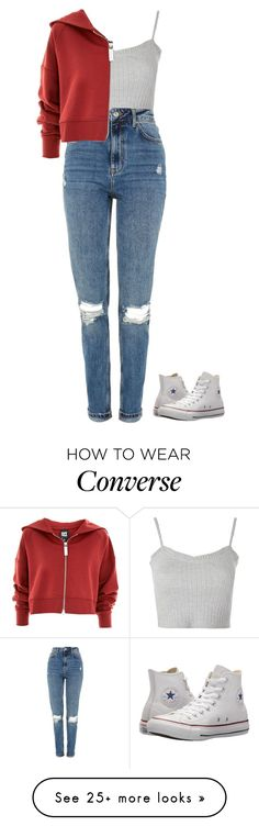 """Untitled #1379"" by the-princess-emma on Polyvore featuring Topshop, Ivy Park and Converse"