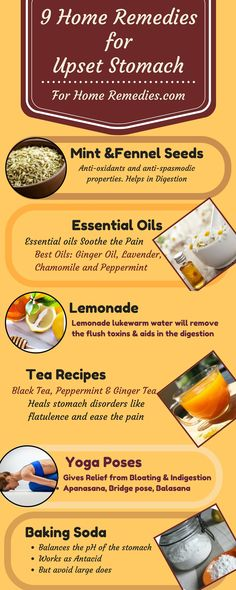 Home Remedies for Upset Stomach: Natural Home Remedies, Essential Oil, Best Foods, Tea Recipes for Upset Stomach, Yoga Poses, Fennel seeds, Yogurt. Stomach Pain Colic Remedies