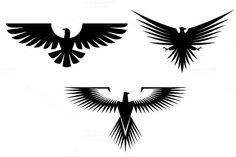 Eagle tattoos by seamartini on Creative Market