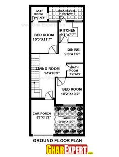House Plan For 15 Feet By 50 Feet Plot Plot Size 83 Square Yards