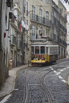 Lisbon Tram 28 goes to all the touristy spots - watch for pickpockets