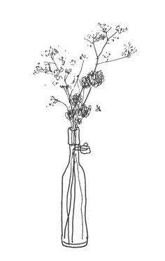 A4 gypsophilia print white flowers vase illustration simple a4 gypsophilia print white flowers vase illustration simple black and white art botanical pen drawing minimalist wall art floral line pinterest mightylinksfo