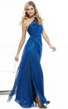 Chiffon Floor-length Natural Sleeveless One Shoulder Bridesmaid Dresses