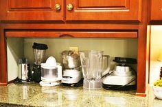 appliance garage in kitchen