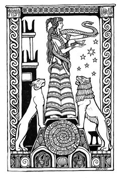 Priestess of Crete to color http://www.mermadearts.com/index.php?cPath=55_57